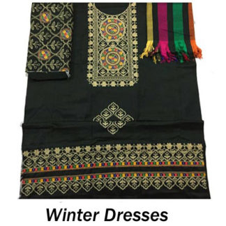 Embroidered Winter Dresses