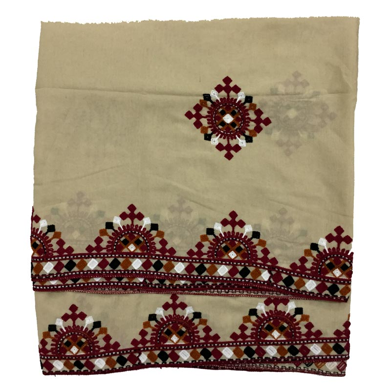Sindhi embroidery chadar yellow color buy online